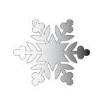 Декоративна фигура RicoDesign, КРИСТАЛ 3, SILVER, 7.8/9 cm