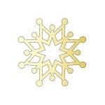 Декоративна фигура RicoDesign, КРИСТАЛ 4, GOLD, 4 8/8 cm