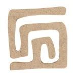 Декоративна фигура RicoDesign, ОРНАМЕНТ 1, MDF, 5/4.5/0.5 cm