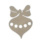 Декоративна фигура RicoDesign, УКРАСА ЗА ЕЛХА, MDF, 12/8.5/0.5 cm