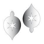 Декоративна фигура RicoDesign, ВИСУЛКА 2 2ч., SILVER, 9.3/5.6 cm
