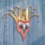 Декоративна поставка от папие маше, с орнаменти рози, ф 6 x 6 x 6 / 9 / 15 см, 3 бр.