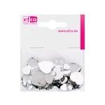 Декоративни камъчета, Acryl facettiert, Set Herz, сърце,  30 / 10 / 10 бр.