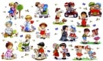 Декупажна хартия, 60 gr/m2, 33 x 48 cm, 1л, Детски забавления