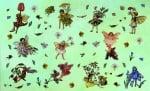 Декупажна хартия, 60 gr/m2, 33 x 48 cm, 1л, Феите на цветята