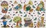 Декупажна хартия, 60 gr/m2, 33 x 48 cm, 1л, Живота на мечетата