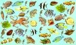 Декупажна хартия, 60 gr/m2, 33 x 48 cm, 1л, Морски обитатели