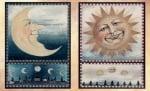 Декупажна хартия, 60 gr/m2, 33 x 48 cm, 1л, Слънце и луна