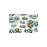 Декупажна хартия с мотиви, 40 g/m2, 50 x 70 cm, 1л, Рибки