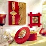 Design-Metall, 3 бр., преливащо червено/ златно