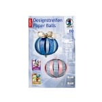 Дизайнерски комплект Paper Balls, Juliet, за 8 хартиени топки, розови/сини микс