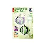 Дизайнерски комплект Paper Balls, Set Lilly, за 8 хартиени топки, зелени  микс