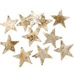 Деко фигурки звезди от бреза, 4 cm, 60 бр.