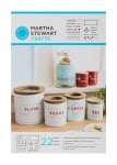 Шаблон самозалепящ Martha Stewart, Kitchen Labels, 14 x 19 cm, 2 броя
