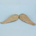 Фигура от папие маше, ангелски криле, 5,5 x 15 cm
