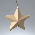 Фигура от папие маше, Орнамент-звезда, ф 8 cm