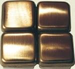 Мраморна мозайка, Gold, неръждаема стомана, 15 х 15 х 8 mm, 12бр