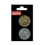 Грим за тяло Glitter Korperflitter Mix, златен и сребърен, 2 х 1 g