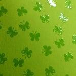 Фото картон с орнаментен лак, 220 g/m2, 47 x 69 cm, 1л, зелен/ пеперуди
