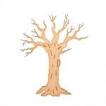 Деко фигурка зимно дърво без листа. дърво. 60 mm