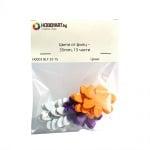 Комплект деко фигурки Цветя от филц – 35mm, 15 части