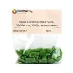 Мозаечни плочки JOY, стъкло, 10x10x4 mm, 104 бр., елхово зелено