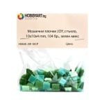 Мозаечни плочки JOY, стъкло, 10x10x4 mm, 104 бр., зелен микс