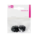Животински нослета за лепене, ф 18 mm, 4 броя, черни