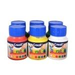 Комплект боички за рисуване с ръце за незрящи CREALL SENSES, 6х500 ml
