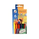 "Комплект цветни моливи 1/2 CretaColor, ""MEGA"", 6 бр.+ гума и острилка"