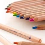 Комплект цветни моливи CREALL Trixi, натурални, 12 цвята, 12 бр.
