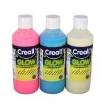 Комплект фосфорисцентна боя CREALL GLOW, 3 х 250 ml