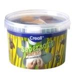 Комплект глина за моделиране CREALL Supersoft, 1750g, 5 цвята Сафари