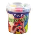 Комплект глина за моделиране CREALL Supersoft, 450g, 5 цвята