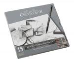 Комплект художествен CretaColor, SILVER BOX, метална