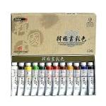 Комплект корейски бои ARTISTS' KOREAN COLOR, 20 ml, 12 цв.