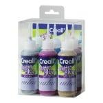 Комплект лепило блестящ ефект CREALL Glitter, 6 х 100ml