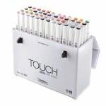 Комплект маркери TOUCH TWIN BRUSH, 48 бр.