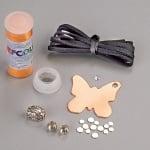 Комплект за изработка на бижута EFCOLOR, висулка пеперуда, 1 бр.