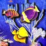 Креативен комплект жива картина 3D «Shining tropics»