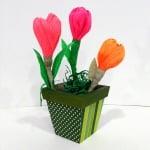 Креативен комплект Les fleurs en papier «Lonely Primula»