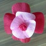 Креативен комплект Les fleurs en papier «Passionate Rose»