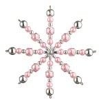 Креативен комплект Pearl Star Craft Kit, Ø 10 cm, 1 брой, роза/ сребро