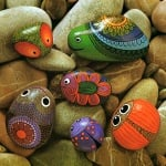 Креативен комплект Stone painting «Couch potato with a moustache»