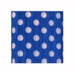 Креп-хартия, 35 g/m2, 50 x 250 cm, 1 ролка, точки бели/ сини