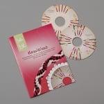 Kumihimo диск-шаблон с книжка на немски език, o 121 mm, 2 части