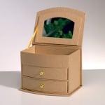 Кутия за бижута от папие маше, 13,5 x 10 x 9 cm
