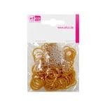 Ластички за плетене на гривни Rubber Loops, 100 бр., златни