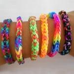 Ластички за плетене на гривни Rubber Loops, 300 бр., червени