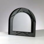 Метална рамка с огледало Mosaix, правоъгълно с арка, 35 x 35 cm, черно